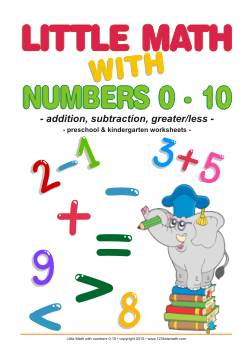 Little Math with numbers 1 to 10 Simple addition and subtraction