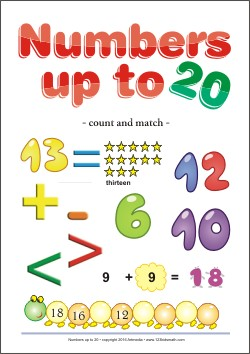 Numbers up to 20 Count and match  Digital Workbook