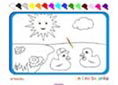 Online coloring game | Two little ducks
