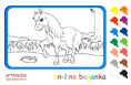 Online coloring game | The Horse