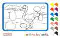 Online coloring game | The Ostrich