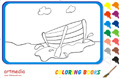 Online coloring game | Little Boat