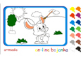 Online coloring game | Cute Bunny