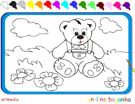 Online coloring game | Teddy Bear