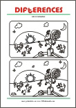 Spot the differences Free Printable Worksheet