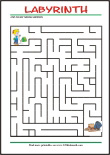 Maze - free printables for kids