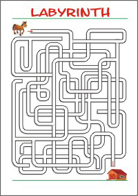Labyrinth Maze Perception Fine motor