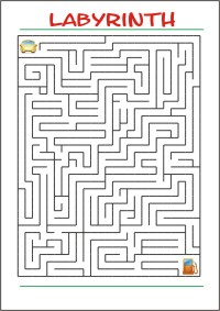 Labyrinth Free printable Maze Perception Fine motor