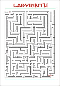 Labyrinth Free printable Maze Perception Fine motorl