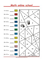 Addition up to 10 - Math Worksheets 1st Grade