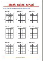 Addition up to 1000 - Math Worksheets 3rd Grade