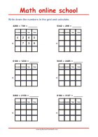 Addition up to 10000 - Math Worksheets 3rd Grade