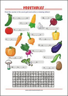 Learning Chart School Poster - Vegetable