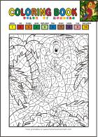 Color by numbers - free printable coloring books for kids