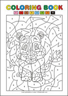 Free Printable Coloring Pages - Color by numbers
