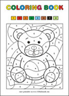Color by numbers - Free printables for kids