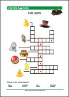 Free printable crossword puzzles for kids with pictures