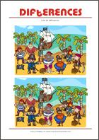 Find 10 differences - free printables for kids