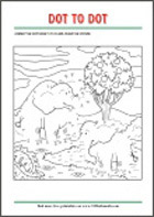 Connect the dots - free printable coloring pages