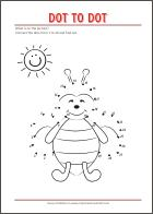 Connect the dots - Dot to dot - free printables for kids
