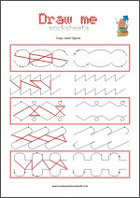 Pre-Handwriting Worksheet for improving hand-eye co-ordination