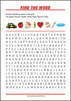 Find the word - free pre-reading activities and worksheets