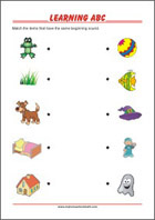 Learning letters and reading worksheet for preschool and kindergarten