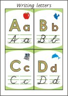 Writing letters - Flashcards