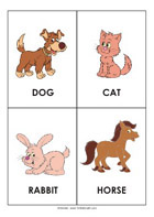 Printable sight-words flash cards - Animals