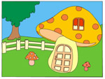 Online Puzzle Game - Mushroom House