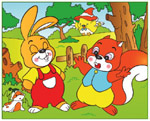 Online Jigsaw Puzzle - Rabbit and Squirrel