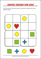 picture relating to Sudoku for Kids Printable called On-line and Printable Sudoku for Little ones - MyHomeSchoolMath