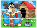 Dog Reading - Online Jigsaw Puzzle - Easy