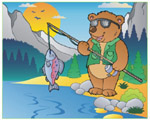 Online Jigsaw Puzzle - Bear Fishing