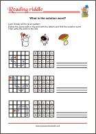 Reading Riddle - Find the solution word - Free Printable Worksheet