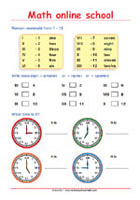 Learning Roman numerals - Math Worksheets 3rd Grade