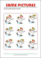 Find two same pictures - Printable Riddle for Kids