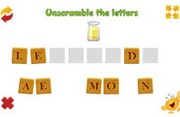 Scrambled letters - Unscramble the letters - Online game