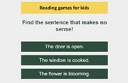Nonsense sentences - Online Prereading Game