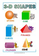 Learning Shapes - Math Poster for Primary School