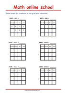 Subtracting 4-digit-numbers Place Value Grid - Math Worksheets 3rd Grade