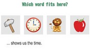 Which Word fits here - Prereading Activities - Online game for kids