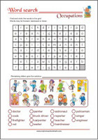 Word Search Worksheet - Occupations