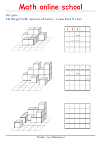 Draw the mat plan of a multiple cube solid